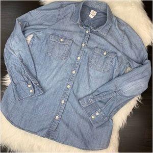 crew jean button down shirt L A6
